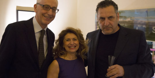 Stefano e Daniela Campogrande con Maurizio Galimberti