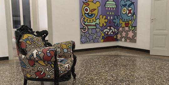 ARTE Installazioni Sreet art da salotto Aleandro Roncarà